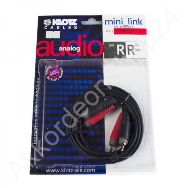 Klotz mini Link Cinch Kabel 2m
