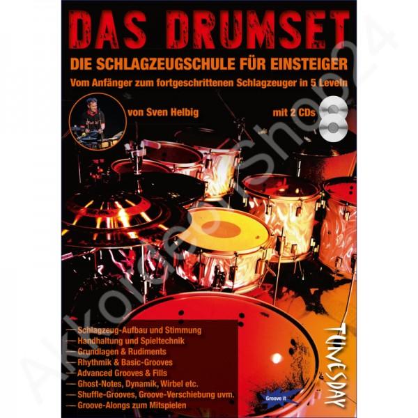 Das Drumset (Schlagzeug-Lehrbuch mit 2 CDs + Video-Download)
